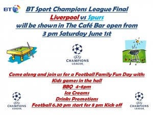 Champions League Final at the Cafe Bar